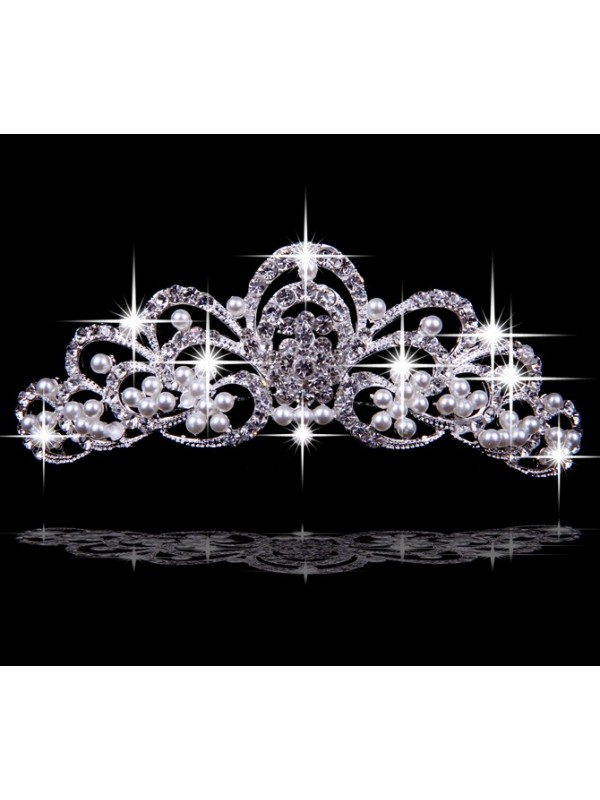 Very Gorgeous Alloy With Czech Rhinestones Wedding Headpieces