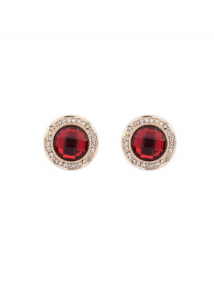 Occident Exquisite Fashionable Round Gemstone Stud Hot Sale Earrings