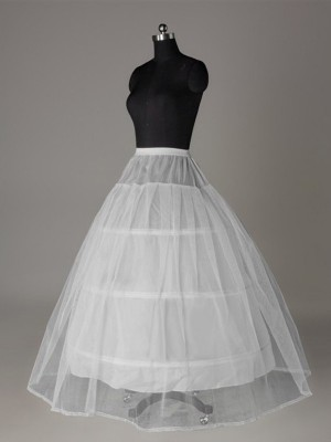 Tulle Netting Ball-Gown 2 Tier Floor Length Slip Style/Wedding Petticoats