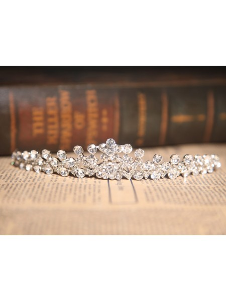 Charming Clear Crystals Wedding Headpieces