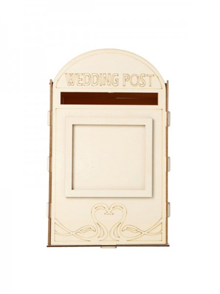Unique Wooden Wedding Post Box