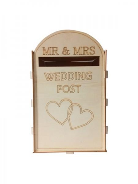 Lovely Wooden Wedding Post Box
