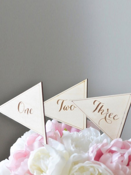 Pretty Wooden Table Numbers(One to Ten)
