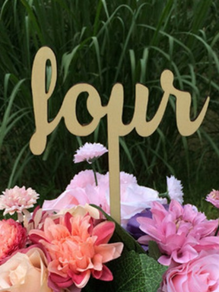 Unique Wooden Table Numbers(One to Twelve)