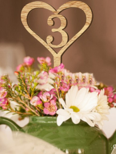 Fancy Wooden Table Numbers(1 to 10)