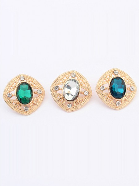 Occident Stylish Temperament Gemstone all-match Stud Hot Sale Earrings