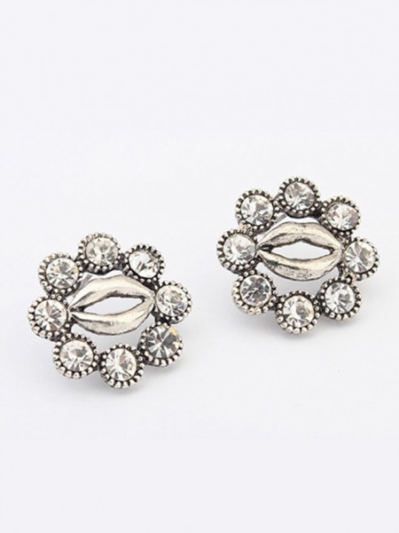 Occident Metallic Personality Hyperbolic Lips Stud Hot Sale Earrings