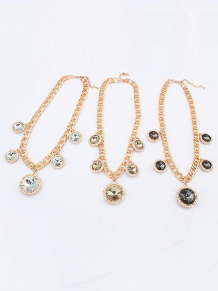 Occident Palace Temperament Exquisite Gemstone Hot Sale Necklace