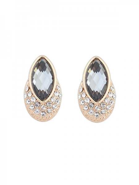 Occident Exquisite Gemstone Stud Hot Sale Earrings