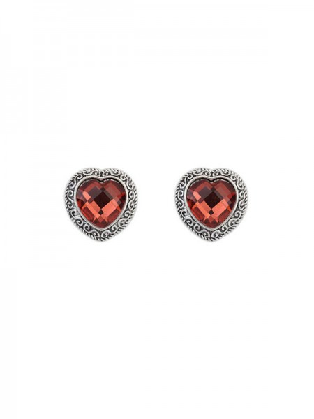 Occident Retro Heart Gemstone Boutique Stud Hot Sale Earrings