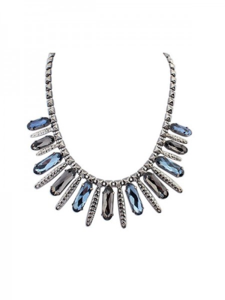 Occident Gemstone Luxurious Hyperbolic Punk Hot Sale Necklace
