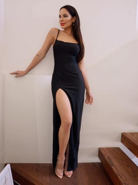 Sheath/Column Satin Square Sleeveless Floor-Length Dresses
