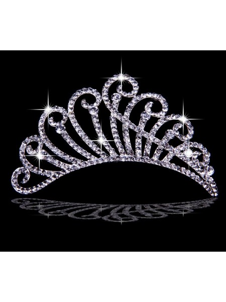 Very Trendy Alloy With Czech Rhinestones Wedding Headpieces